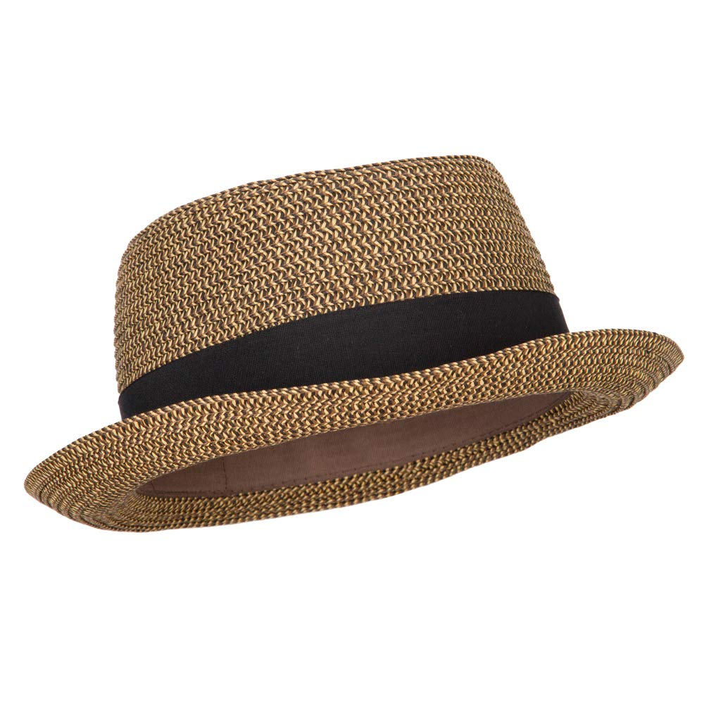Ladies Pork Pie Fedora Hat with Wide Band