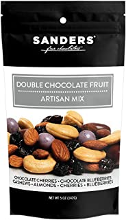 product image for Sanders Artisan Mix Double Chocolate Fruit Gourmet Trail Mix, Super Premium Chocolate Covered Dried Fruit and Nuts Snack, 5 oz Resealable Bag
