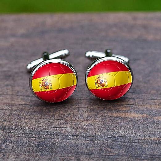 Gemelos Para Hombres, Bandera España Gema De Vidrio Francés De ...