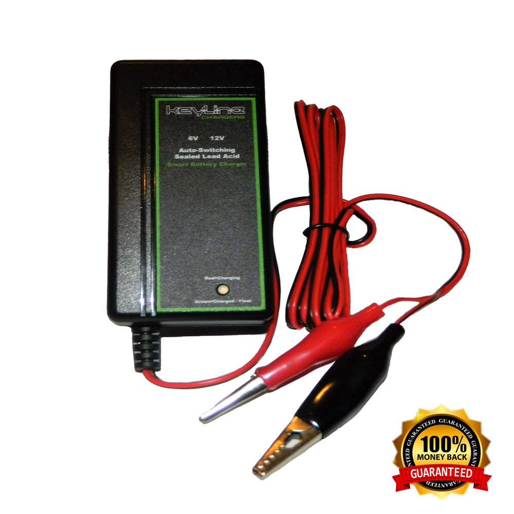 6v 12v Auto Switching Smart Battery Charger W Float Gel Cell Circuit Diagram Voltage 3 Stage Trickle For Sla Batteries Wildgame Feeders More By Keyline