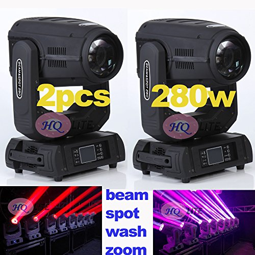 2pcs 3D gobo light 280W beam spot wash zoom moving head light Stage show sharpy beams