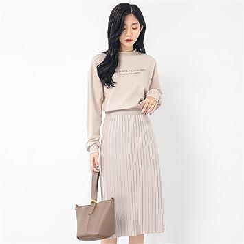 El otoño y el invierno Moda sueter blusa de manga larga T - shirt sweater dama
