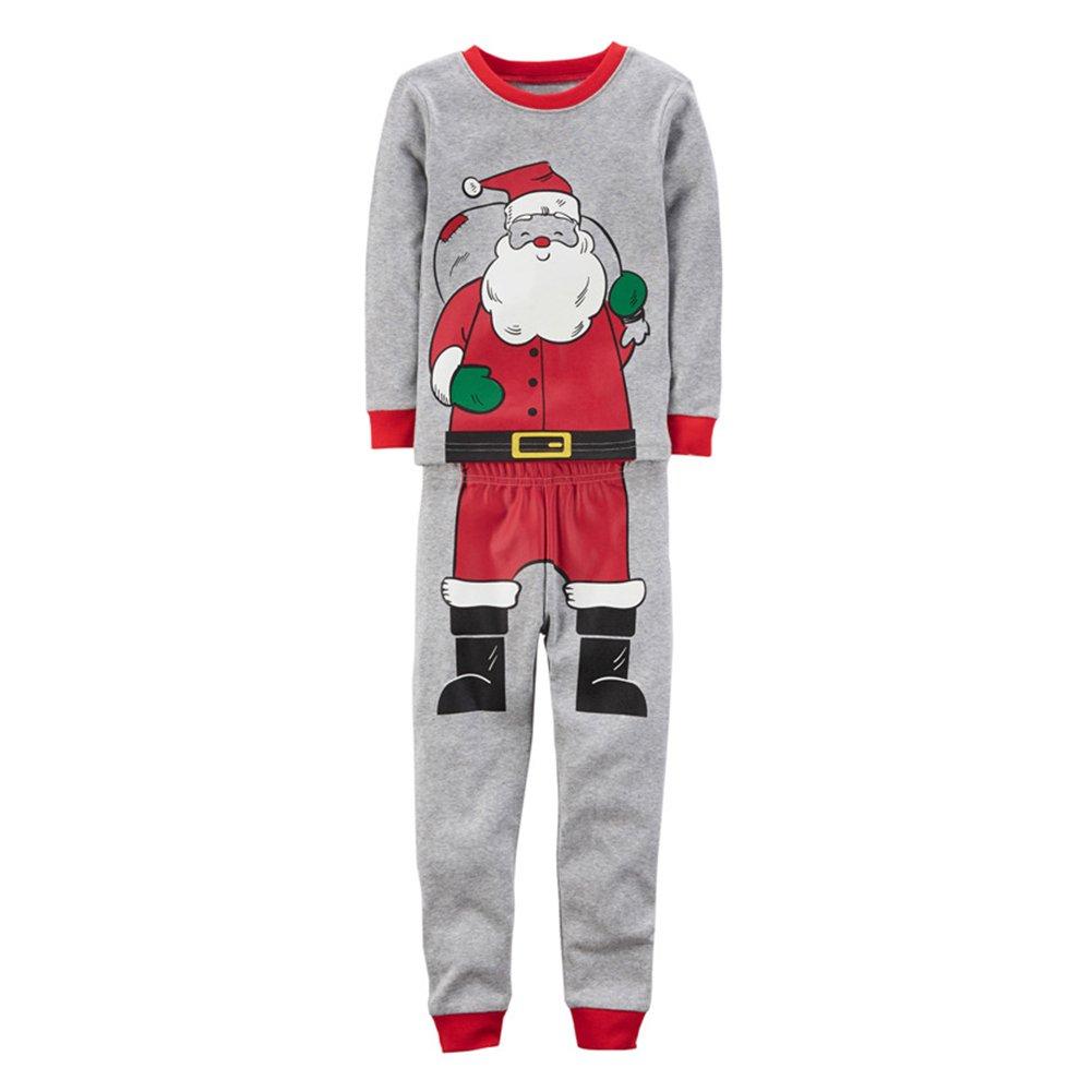 Hibote Pijamas de Navidad para niños pequeños, 2 Piezas Algodón Patrones de Navidad Manga Larga para Dormir: Amazon.es: Ropa y accesorios
