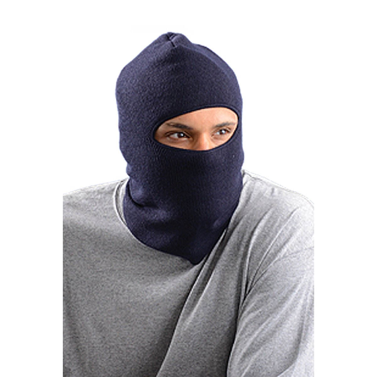 Stay Warm - Lined, Insulated Face Mask - Navy - Made in the USA - 12-PACK