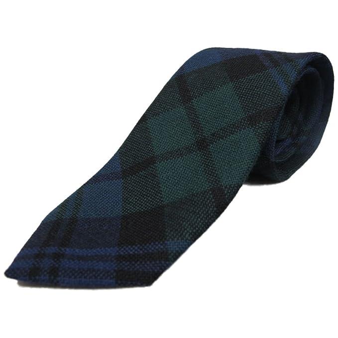 Ingles Buchan Corbata estilo tartán para niños - 100% lana - Black ...