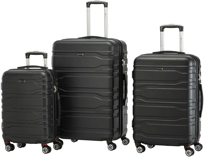 Grey Mancini Lightweight Spinner Luggage 3 Piece Set