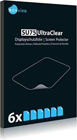 Display Protection Film 100/% fits Protective Film Savvies Crystalclear Screen Protector for Qtek Touch Dual