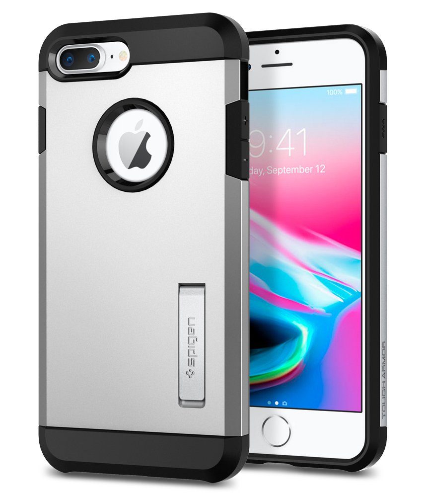 quality design 7b353 d5498 Spigen Tough Armor [2nd Generation] Designed for Apple iPhone 8 Plus Case  (2017) / Designed for iPhone 7 Plus Case (2016) - Satin Silver