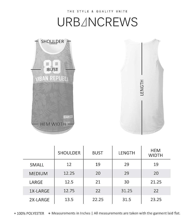 URBANTOPS Mens Hipster Hip Hop Varsity Graphic Print Tank Tops Various Prints