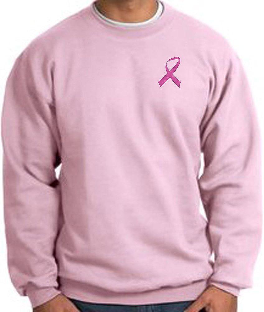 A/&E Designs Breast Cancer Awareness Sweatshirt Pink Ribbon Pocket Print Adult Pullover Pink