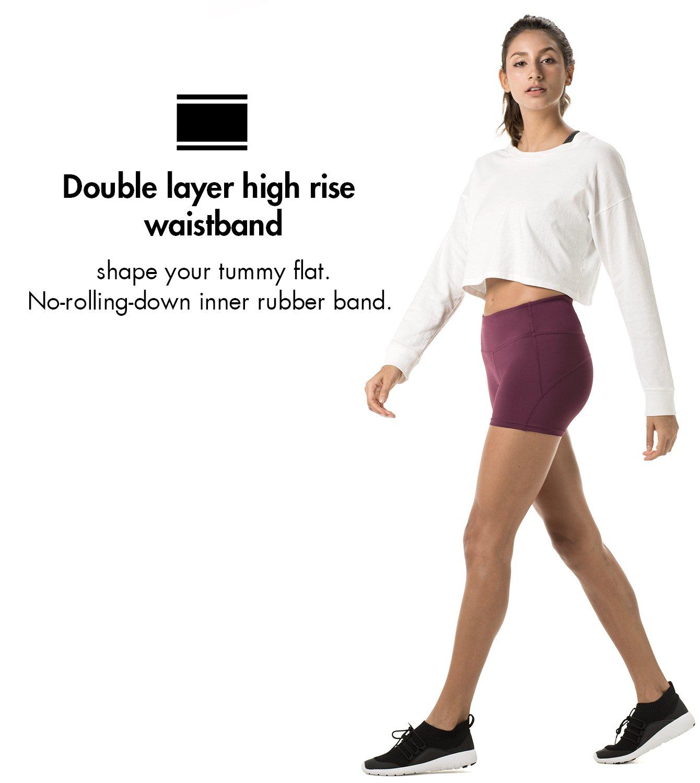 LAPASA Short Sport Femme Yoga Fitness Running Gym Élastique Stretch Gaine  Large L09 Agrandir l image fbf35d4e2cc