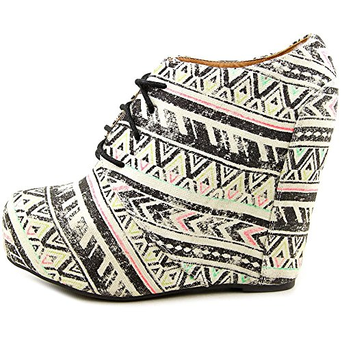 Famous Name Brand Shï by Journeys Womens Canvas Closed Toe Wedge Pumps, Multi, Size 6.5