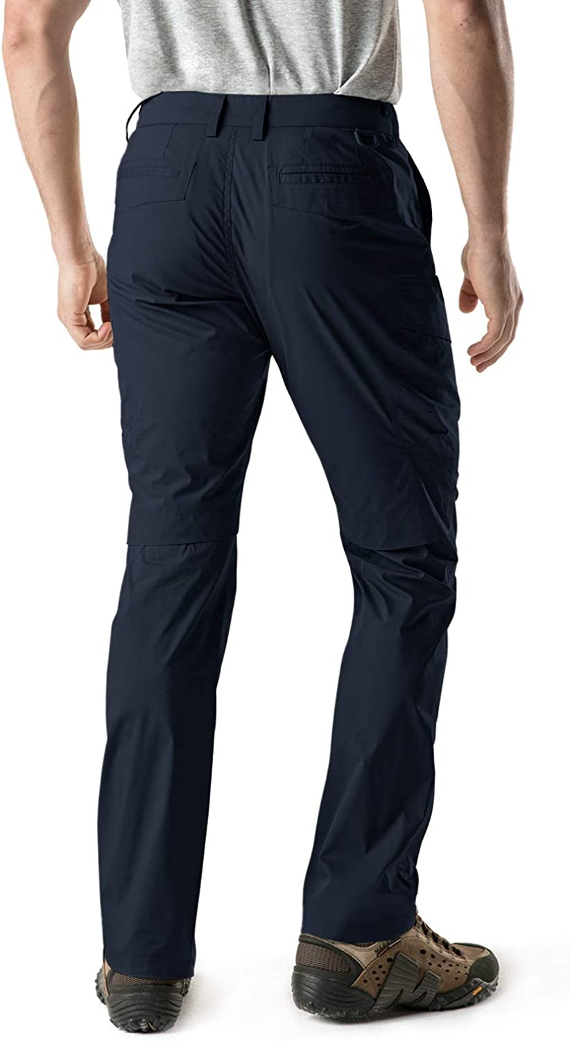 CQR Mens Outdoor Adventure Rugged Pants Hiking Camping Stretch Durable UPF 50 Quick Dry Cargo Trousers