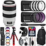Canon EF 70-300mm IS USM Lens + 6PC Graduated Filter Set + UV-CPL-FLD Filters + Macro Filter Kit + 72 Monopod + Lens Hood + 32GB Class 10 + Backpack + Spider Tripod - International Version