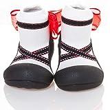 Attipas Ballet Baby Walker Shoes, Black, Large