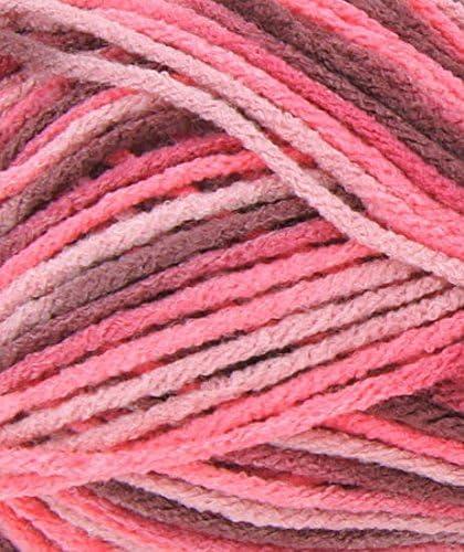 Chin/é Rose Marron Pelote de laine tradition tricot etoile