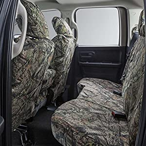 Covercraft SSC8429CAMB Carhartt Mossy Oak Camo SeatSaver Second Row Custom Fit Seat Cover for Select Chevrolet/GMC Models - Duck Weave (Break-Up Country)