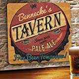 JDS Marketing Free Beer Personalized Wood Home Bar and Tavern Sign