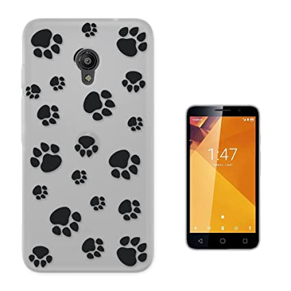 c01152 - Cute Black Pets Paws Kitten Cat Dog Animal Lovers Design Vodafone Smart Turbo 7