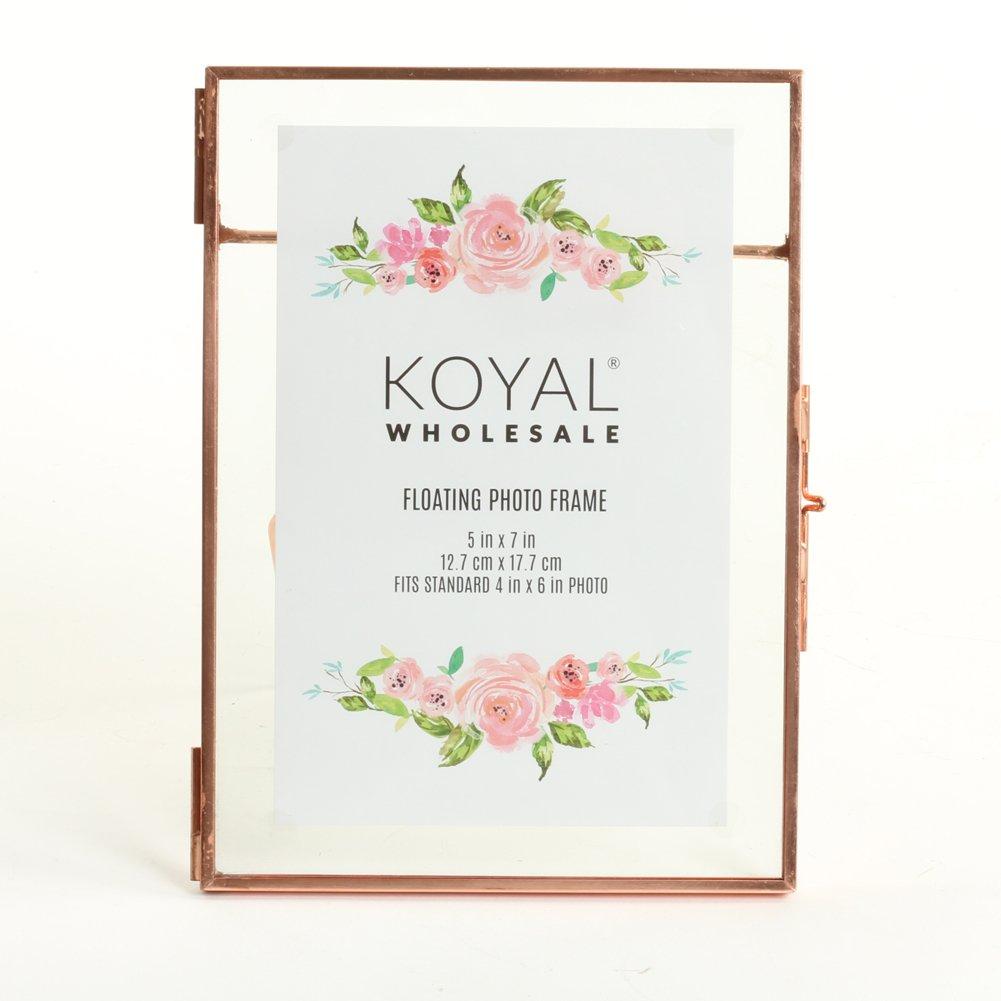 Amazon.com: Koyal Wholesale Pressed Glass Floating Photo Frames 8 ...