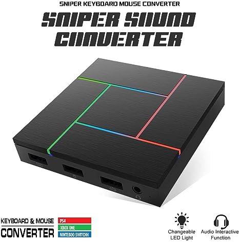 PXN K5 - Adaptador de teclado y ratón para juegos USB para PS4/PS3/Xbox One/Nintendo Switch compatible con teclado y ratón inalámbricos para juegos: Amazon.es: Electrónica