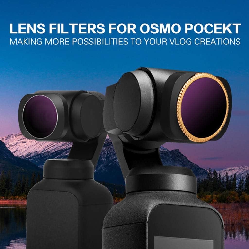 Elaco 5PCS Camera Filter ND4-PL ND8-PL ND16-PL ND32-PL ND64-PL Lens Filters Compatible with DJI OSMO Pocket