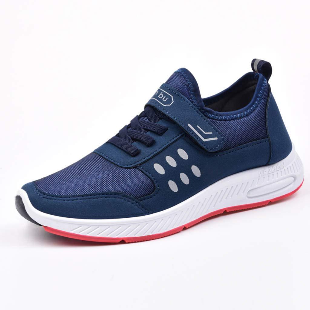 beautyjourney Zapatos Deportivos de Malla para Hombre Zapatillas de Plataforma con Cordones Zapatillas de Deporte de Estiramiento Transpirable Zapatos ...
