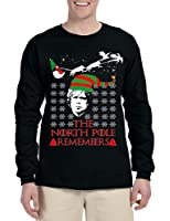 Allntrends Men's Long Sleeve The North Pole Remembers Xmas Ugly Shirt Gift