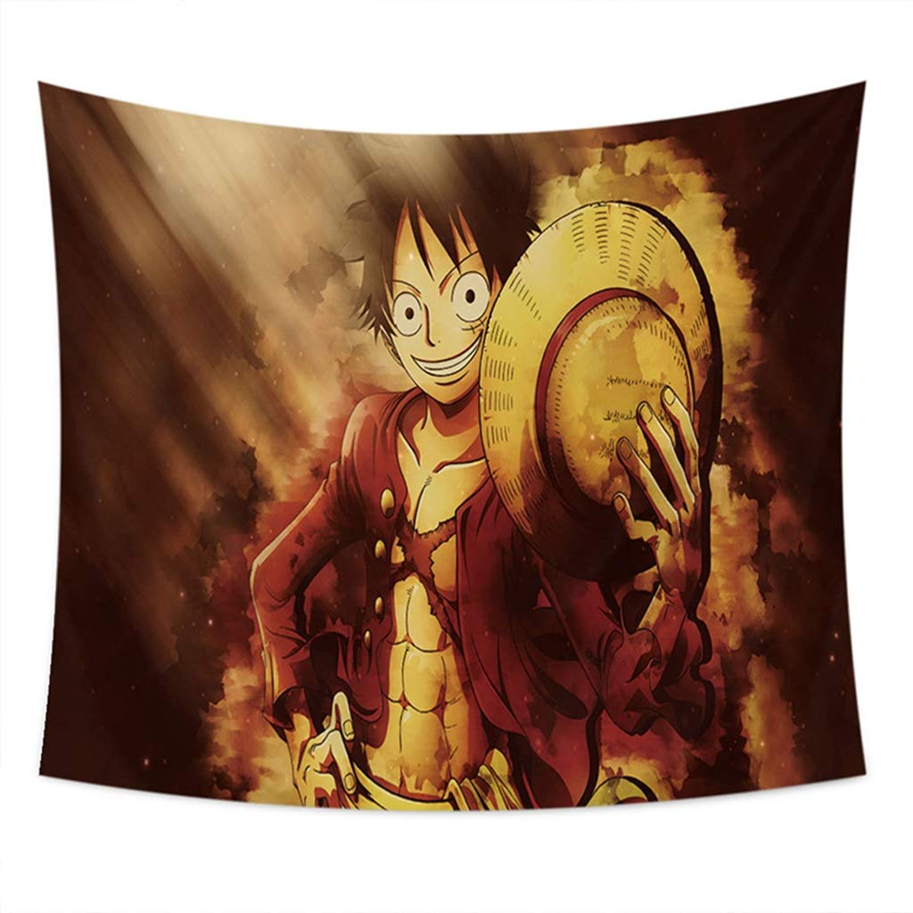 HappyL One Piece Anime Tapestry 丨 3D Tapestry Dormitory Wall Tapestry Tapestry (Color : B, Size : 150CM×130CM) by HappyL