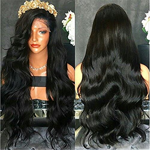 LIN MAN 100% Brazilian Virgin Human Hair Lace Front Wigs For Black Women Body Wave Full Lace Front Wigs 150% Density Glueless Wigs With Baby - Dubai Men Hot