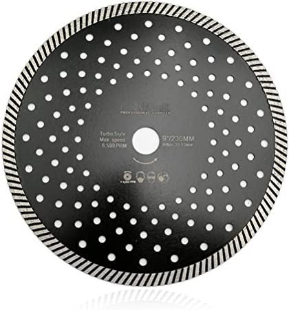 """3 pack of 6/"""" Granite Turbo Diamond Blade with Holed core for Angle Grinders"""