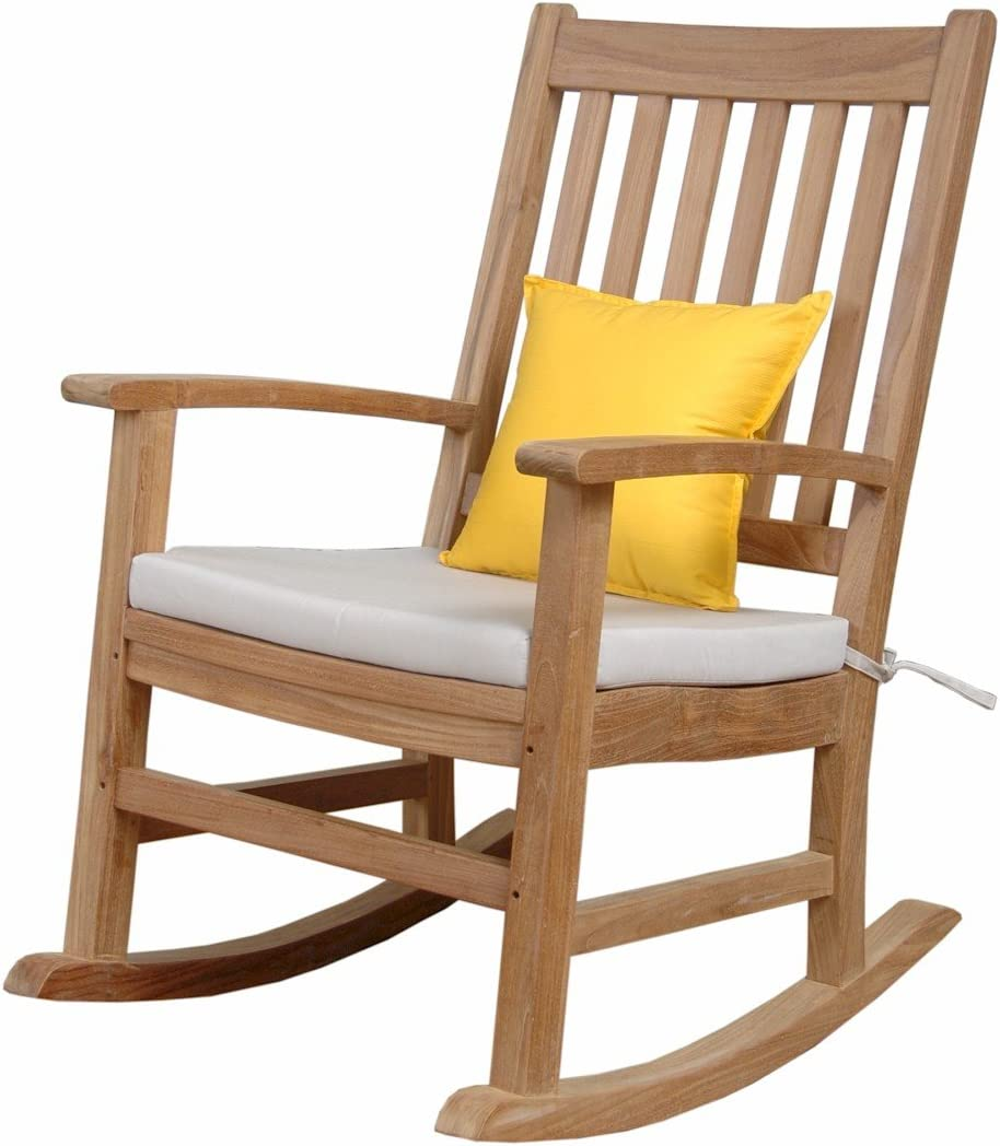 Amazon Com Anderson Teak Palm Beach Collection Rocking Armchair Without Cushion Garden Outdoor