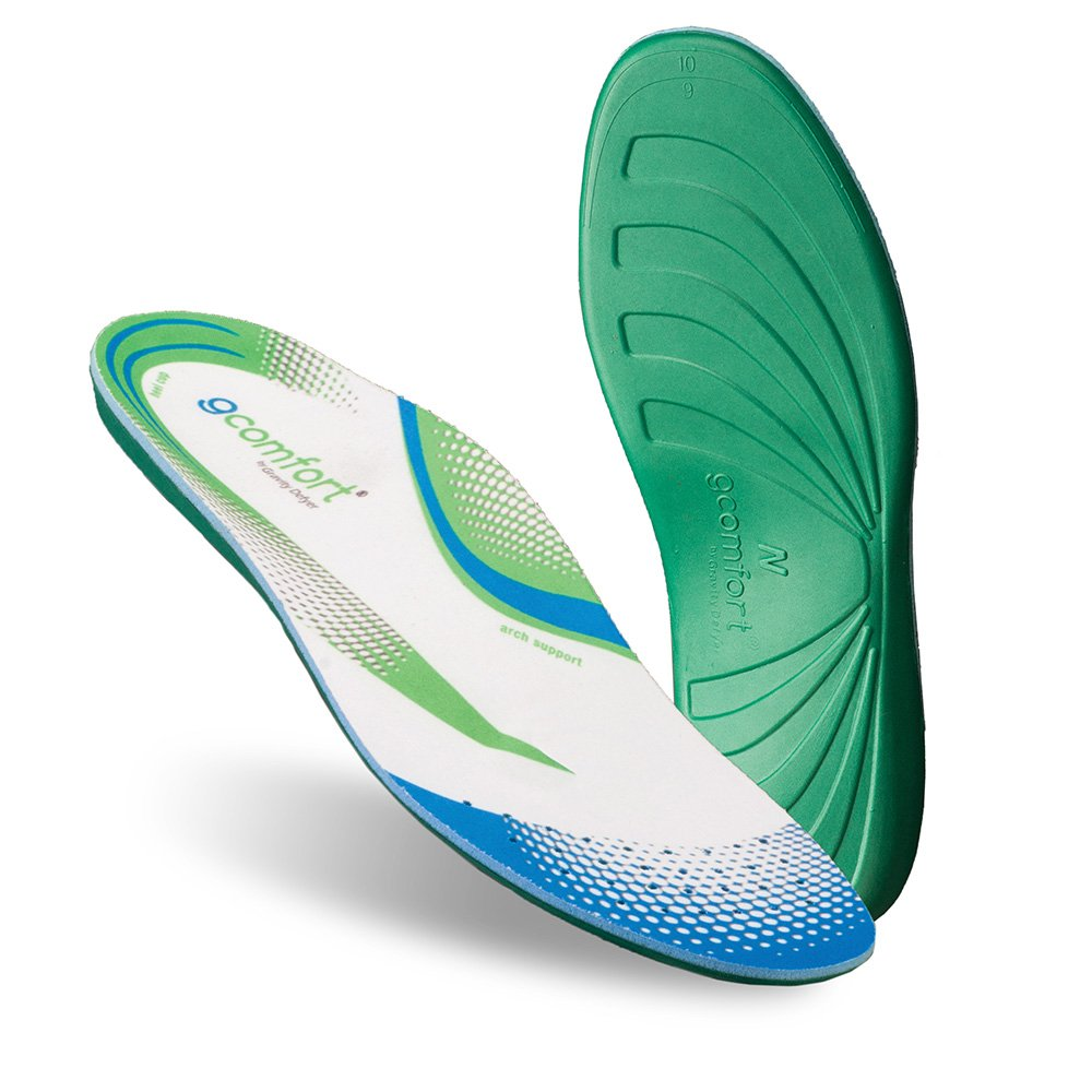 Gravity Defyer G-Comfort Orthotics for Women (Posted) 8 M US - Insoles for Pronation and Flat Feet White, Blue, Green by Gravity Defyer