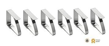 6 de acero inoxidable de la mesa con pinza para sujetar el mantel - lámpara de