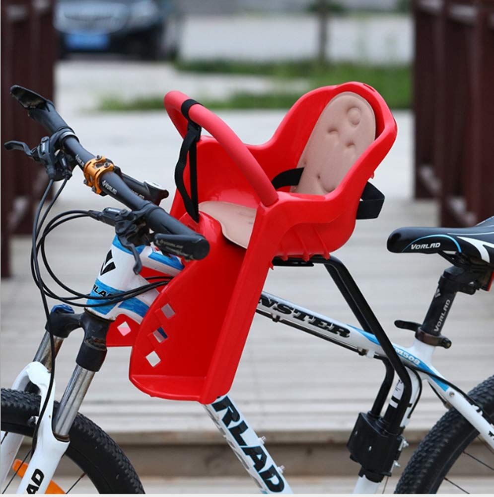 Bike Saddle,Portable Child Bike Seat Foldable /& Ultralight Front Mount Baby Kids Bicycle Carrier Handrail Mountain Bikes