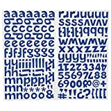 Darice 1219-62 172-Piece Glitter Alphabet Sticker, Lower Case Letters and Numbers with Bold Font, Blue