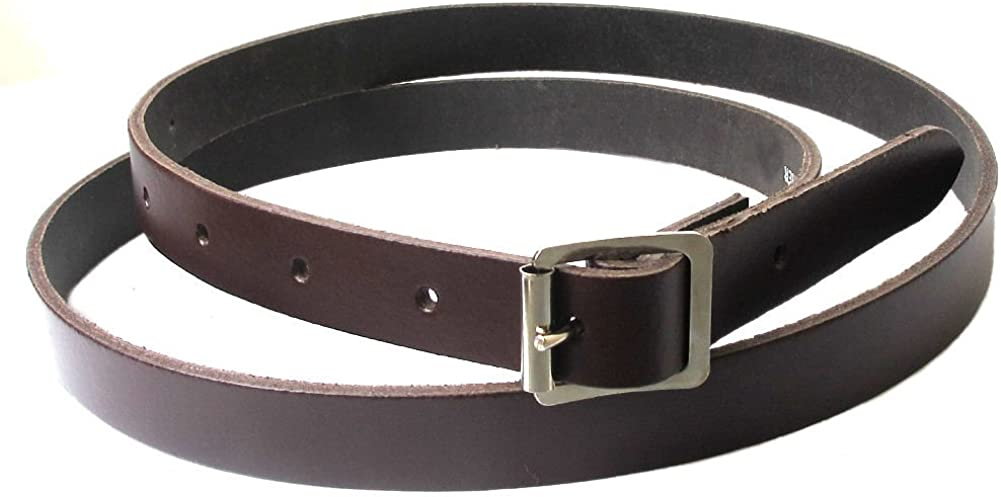 Glen Esk Mens Scottish Leather 0.75 Inch Wide Sporran Belt