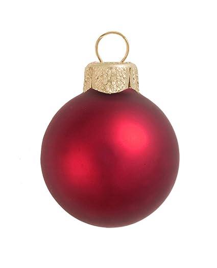 40ct matte red xmas glass ball christmas ornaments 125 - Red Christmas Ornaments