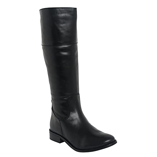 Lucini 26484 Black Classic Real Leather High Long Talll Boots for Women's Ladies New UK SIZE 3 4 5 6 7 8 B00QFP1O72