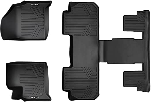 Smartliner Floor Mats 3 Row Liner Set Black For 2018 2019