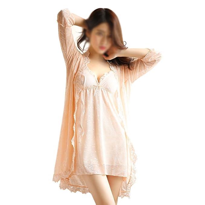 Pijamas De Mujer Sexy Batas De Verano Camisón Suave V Vestido De Cuello Dama Vestido Camisón