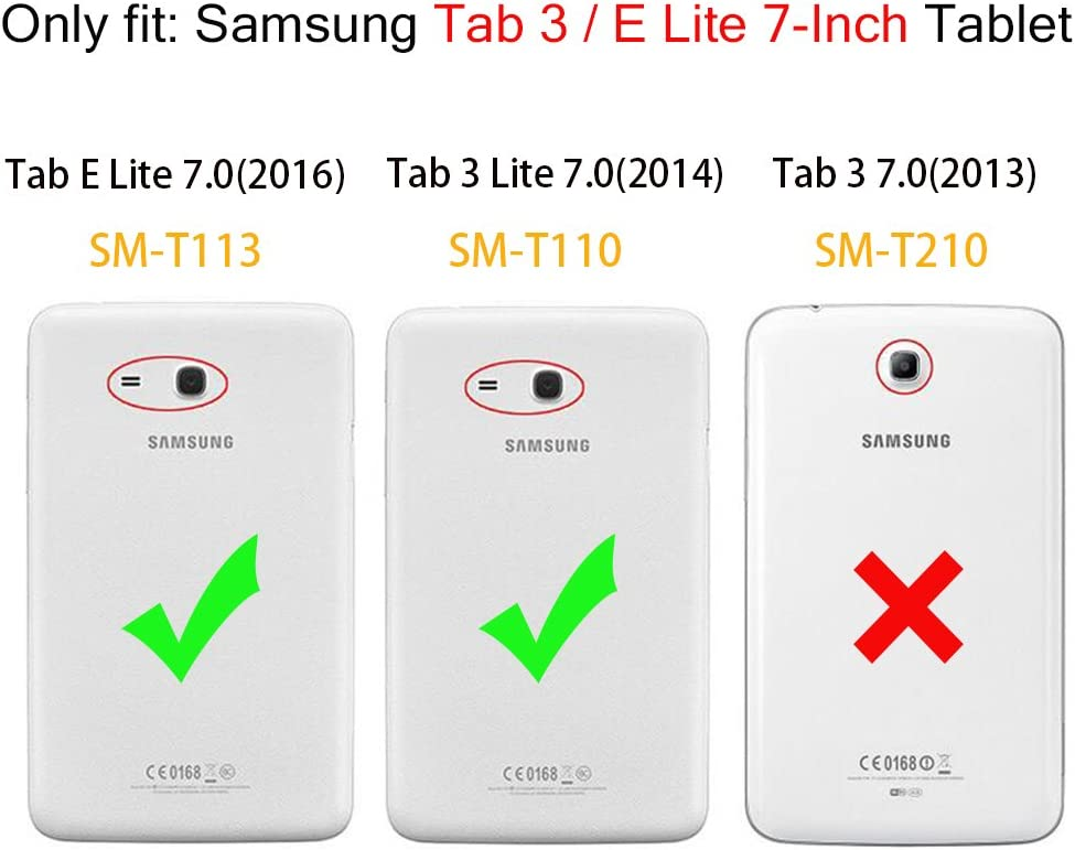 1pk Tempered Glass Screen Protector Guard for Samsung Galaxy Tab E Lite Kids 7.0