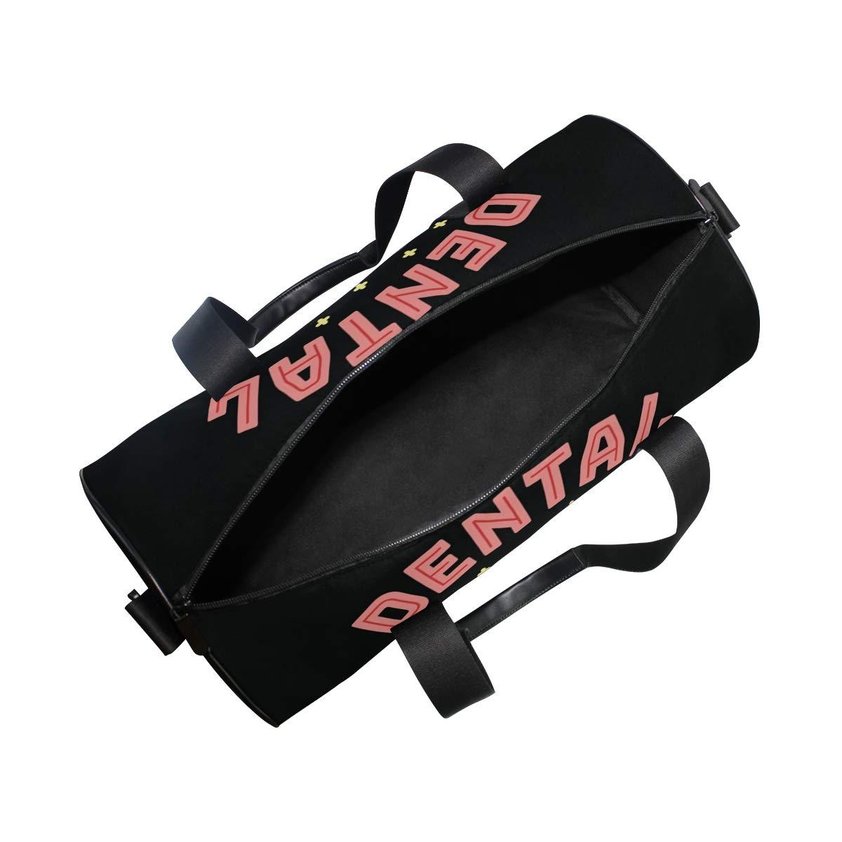 Gym Bag with Cool Dental Hygenius Print Travel Weekender Duffel Bag for Man and Woman