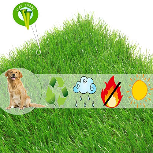 Scorbio Artificial Grass Puppy Potty Traning Mat Synthetic Grass Porch Patch for Dog Indoor Replacement Pet Turf Fake Grass Doormat, Small