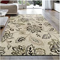 Superior Jacobean Collection Area Rug, 8mm Pile Height with Jute Backing, Beautiful Floral Pattern, Fashionable and Affordable Woven Rugs, 27 x 8 Runner