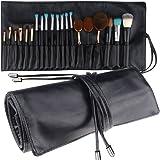 Mlmsy Brosse de Maquillage Rolling Pouch brosses support Cosmétique Organiseur de sac de voyage portable 18poches cosmétiques Pinceaux Housse en cuir