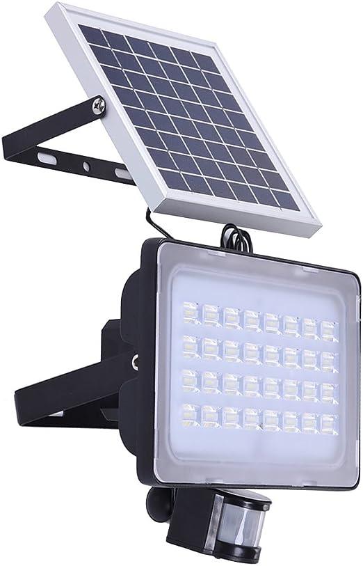 Luz solar LED, Focus solar con 2 modos, Luz solar con sensor de movimiento, Lamparas solares exterior para patio, jardín, pasillo, garage (TNYC50W): Amazon.es: Iluminación