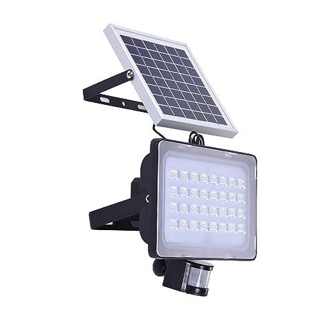 Luz solar LED, Focus solar con 2 modos, Luz solar con sensor de movimiento