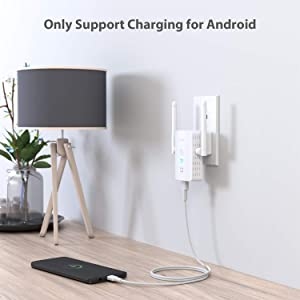 Victure WiFi Range Extender Repeater 2.4GHz 300Mbs,WPS&One-Click Setting,USB Charging Port,Fast Ethernet Port,AP Mode,Compatible with All WLAN Devices