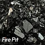 Midnight Black Reflective Fire Glass 1/4″ Firepit Glass Premium 10 Pounds Great for Fire Pit Fireglass or Fireplace Glass Review